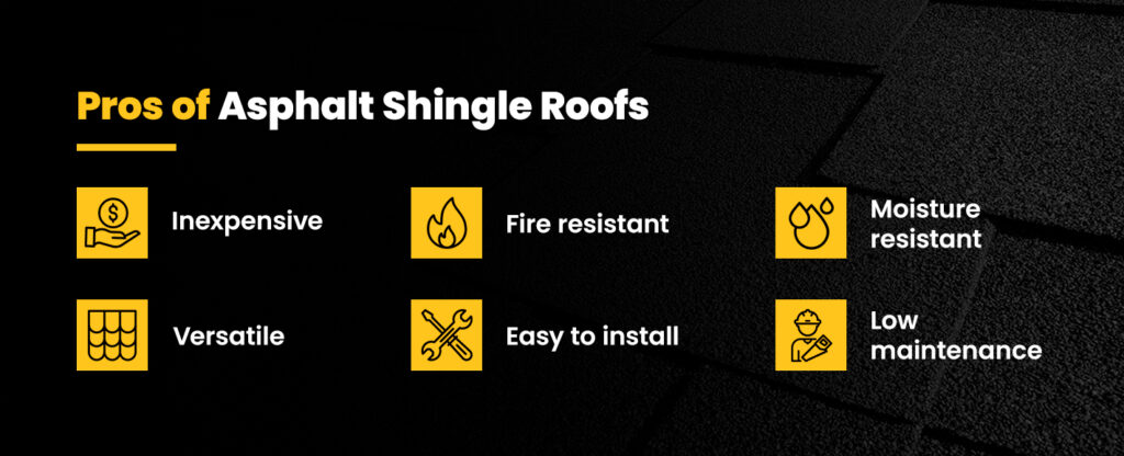 Pros of asphalt shingle roofs