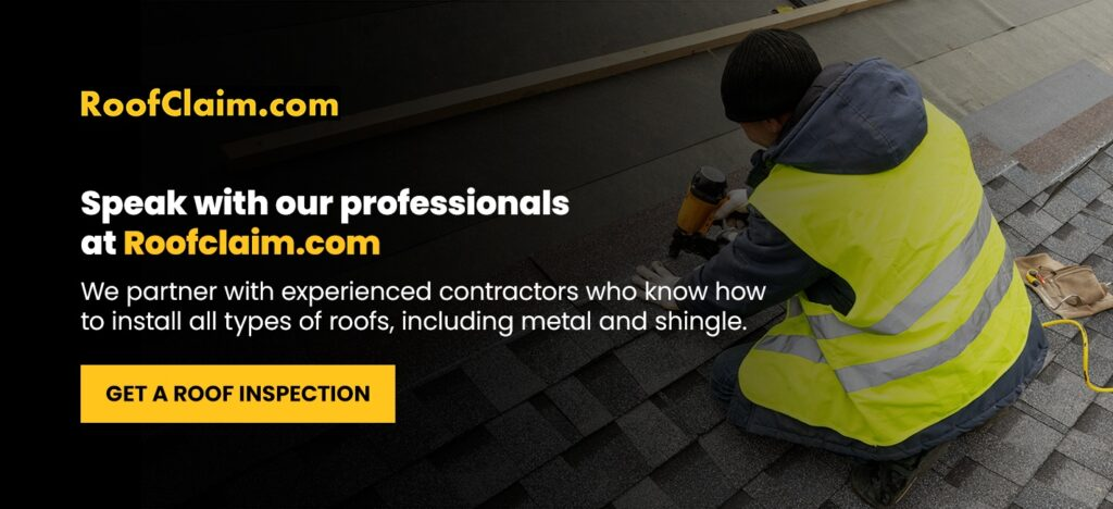 Speak with our professionals at RoofClaim.com