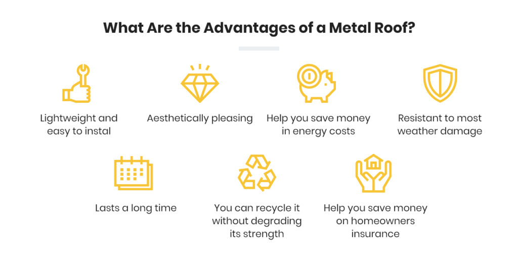 What are the advantages of a metal roof?