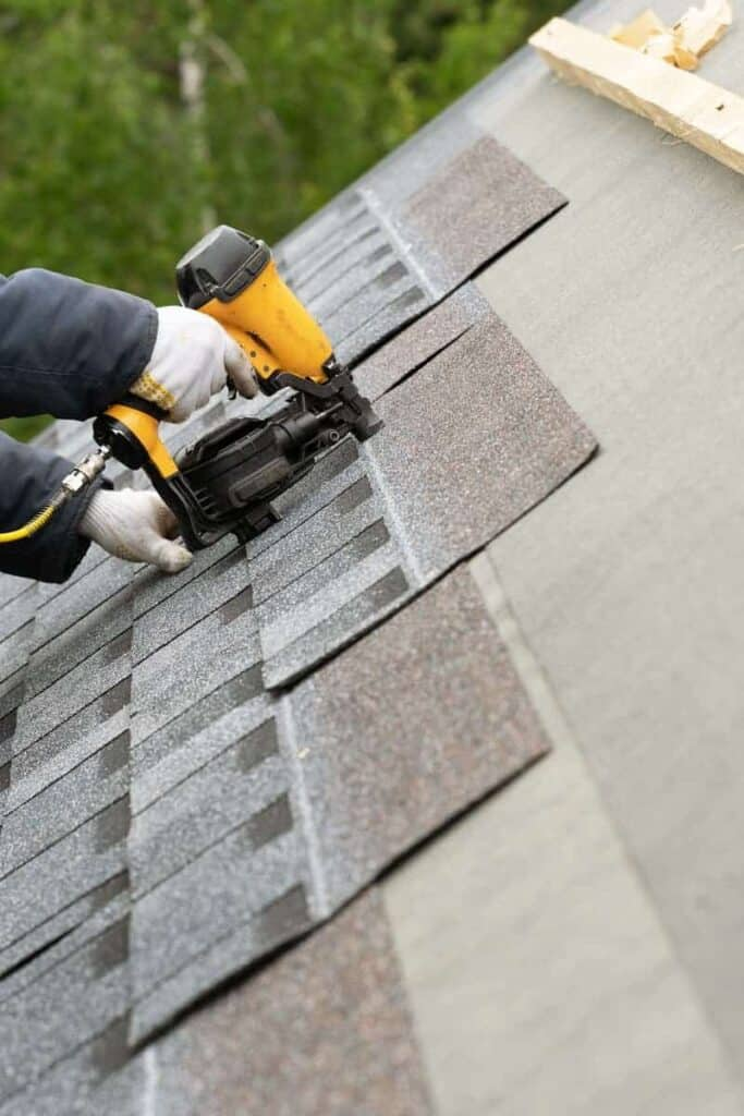 Roofer Doing Shingle Roof Repair & Replacement in Tampa, FL