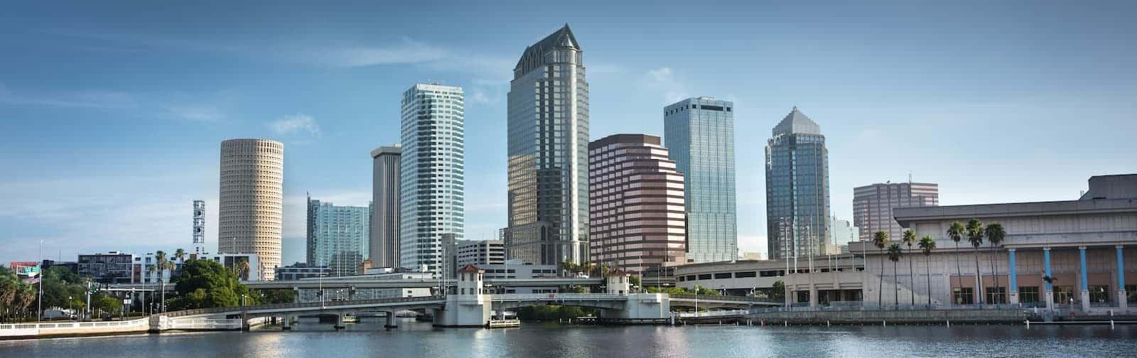 Tampa Skyline with Hillsborough Bay & Riverwalk