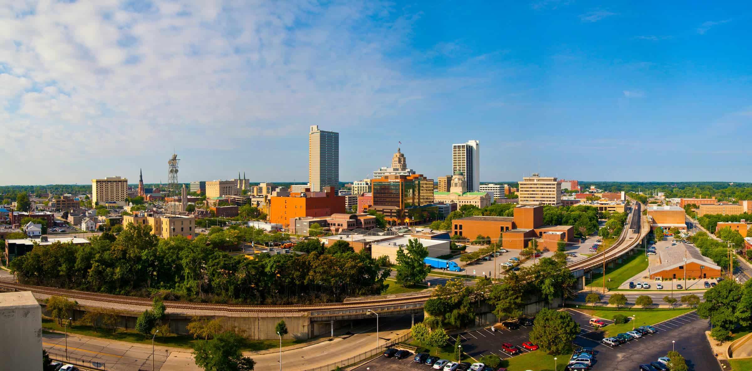 Fort Wayne City Skyline