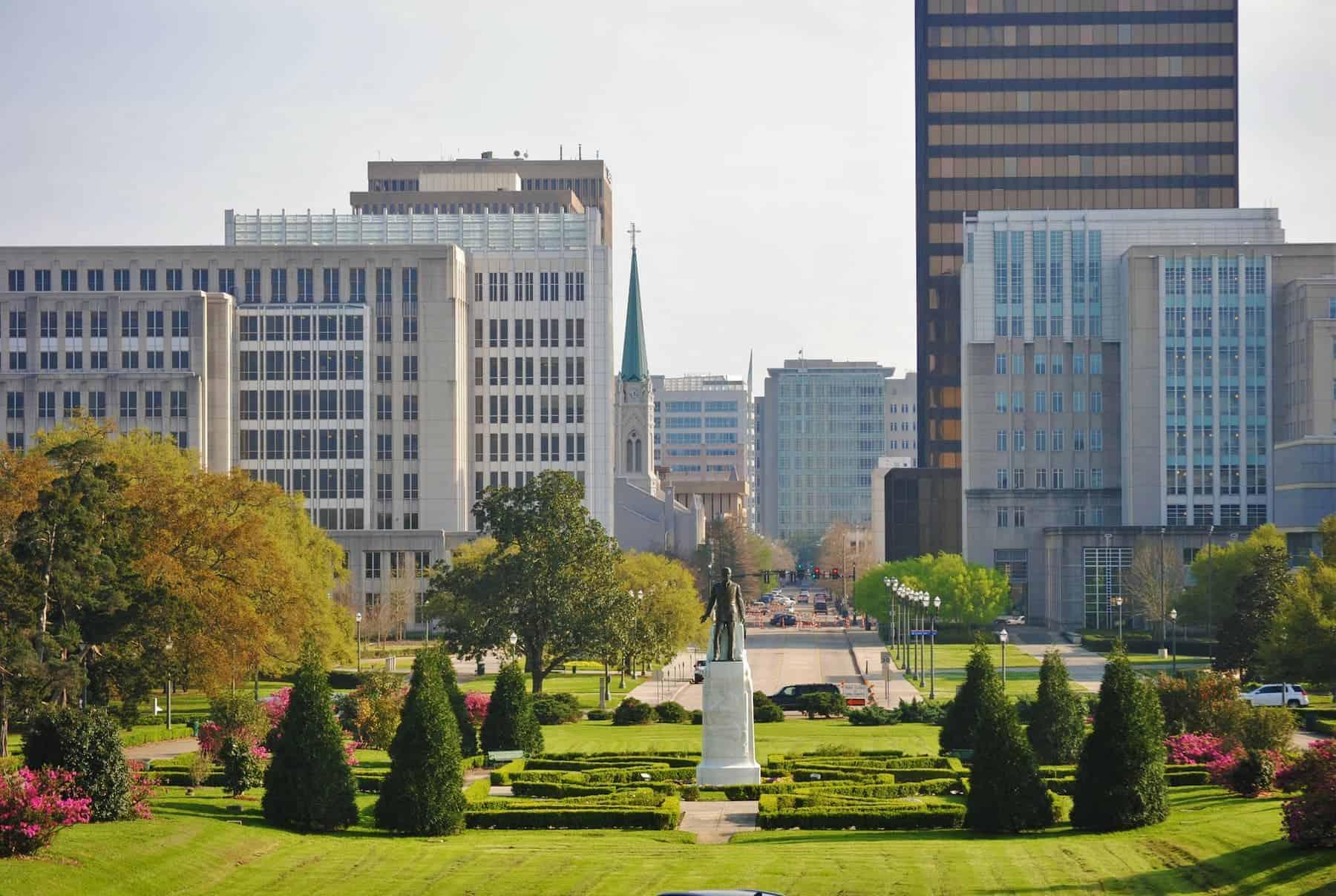 Lafayette Louisiana Downtown Area