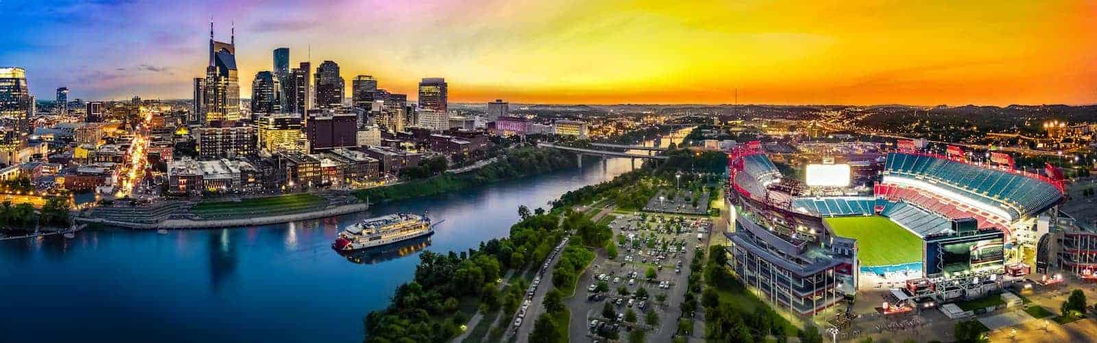 Nashville TN Downtown with Stadium