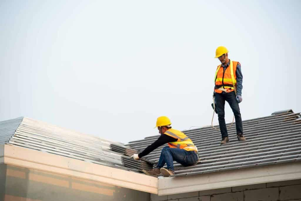 Roofing Contractors Doing a Roof Replacement in Jacksonville