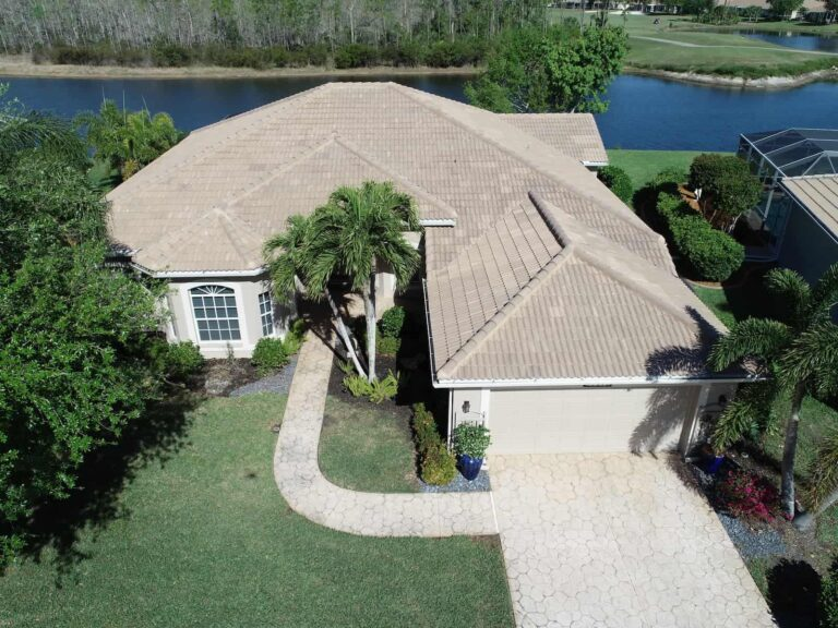 Tan Tile Roof Replacement in Fort Myers by RoofClaim.com