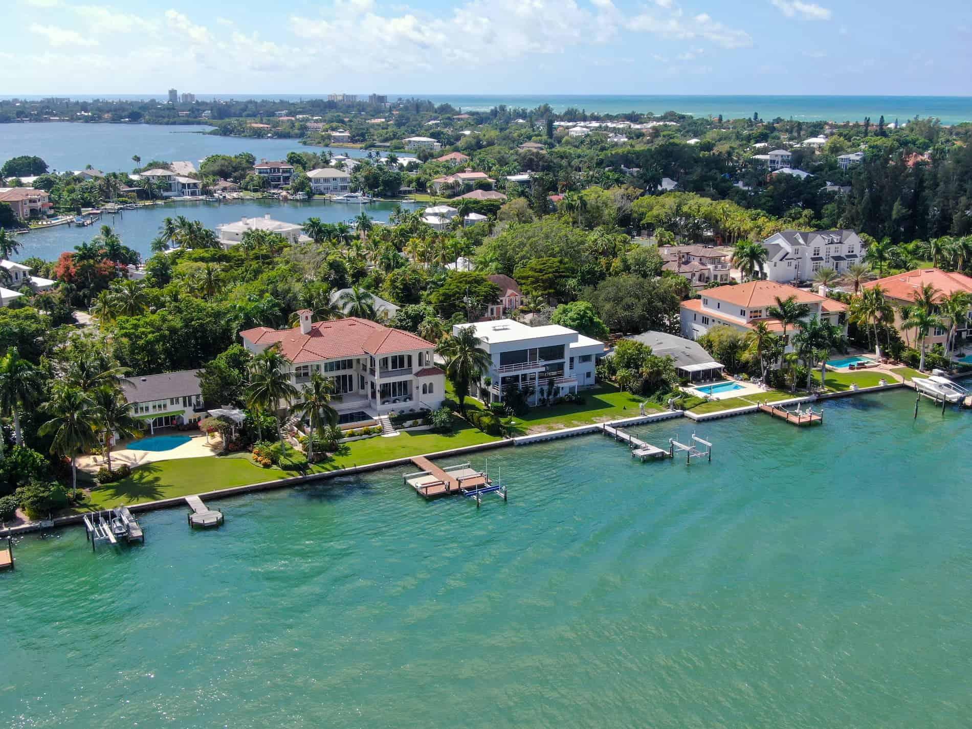 Sarasota Florida Aerial Shot for RoofClaim.com
