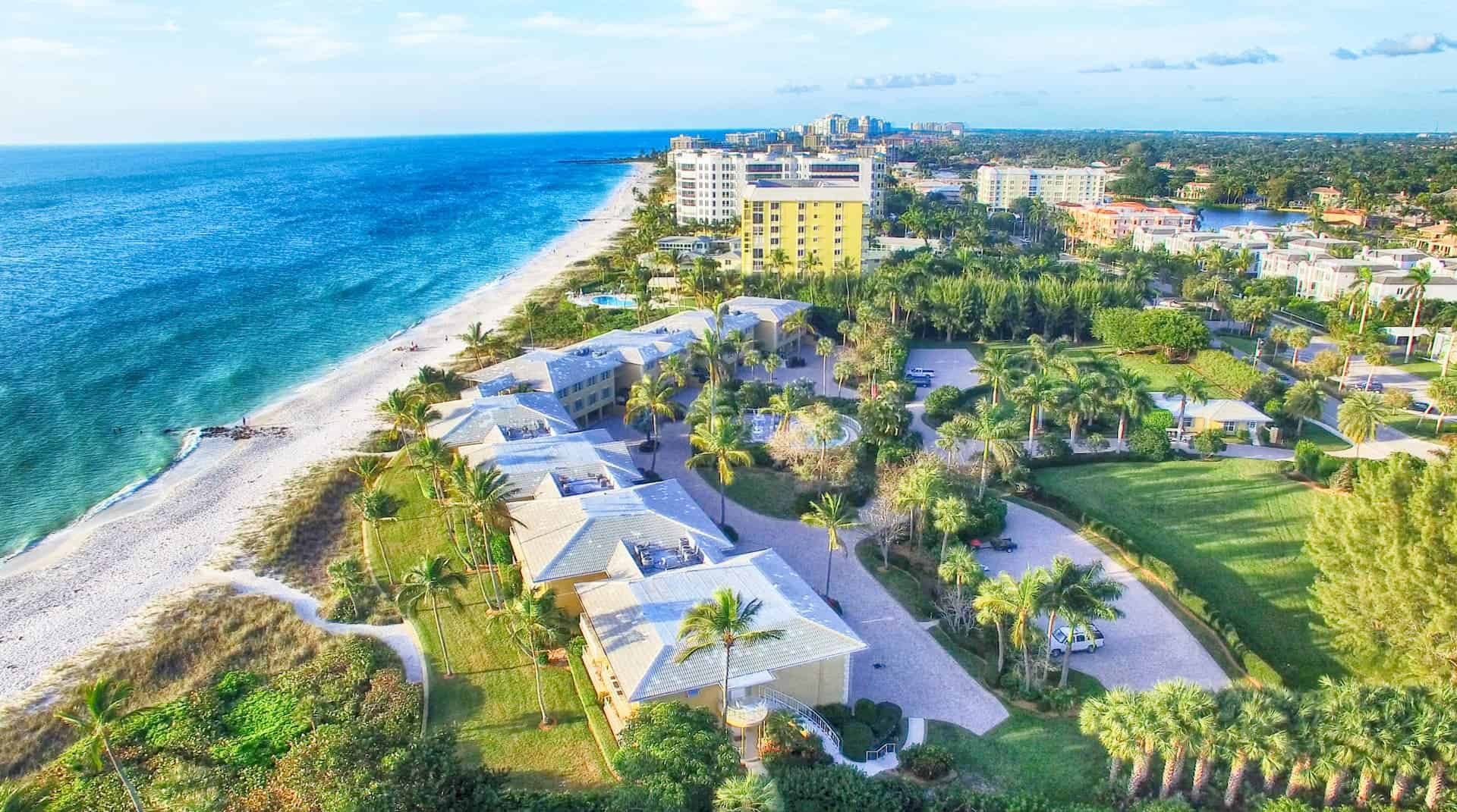 Naples Florida Coastline With Buildings and Homes