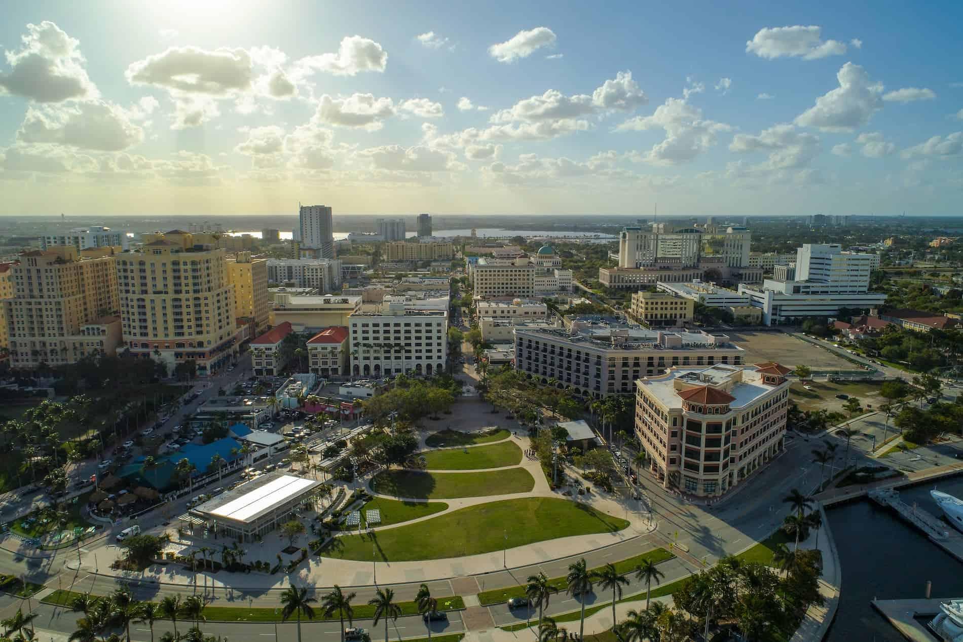 Flagler Park in West Palm Beach Florida