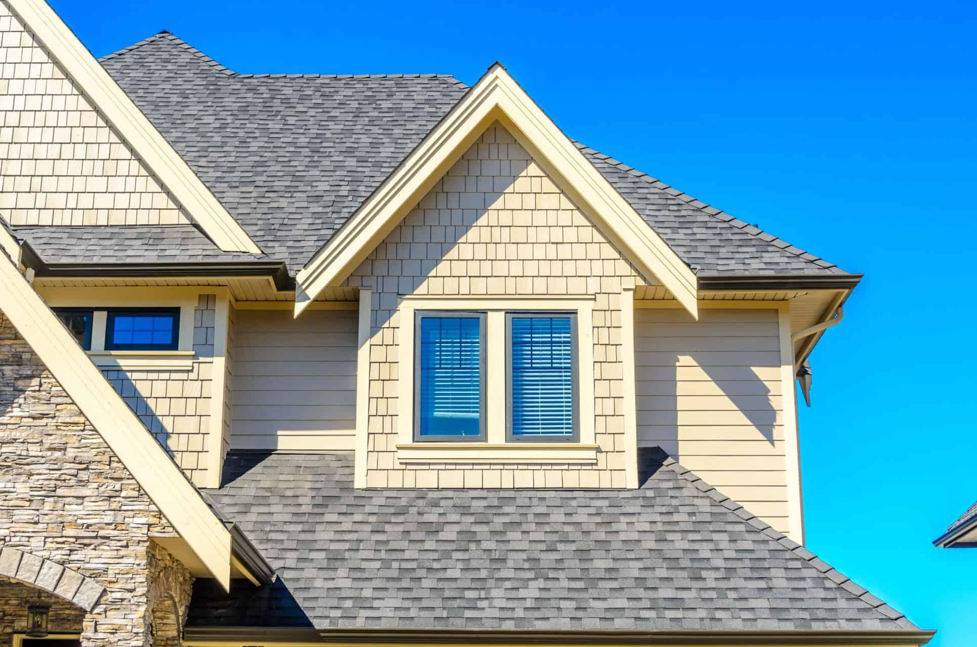 house with shingle roof