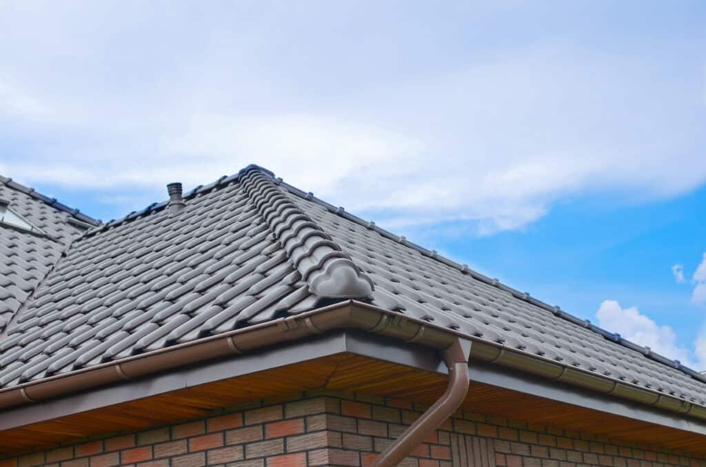 grey concrete tile roof
