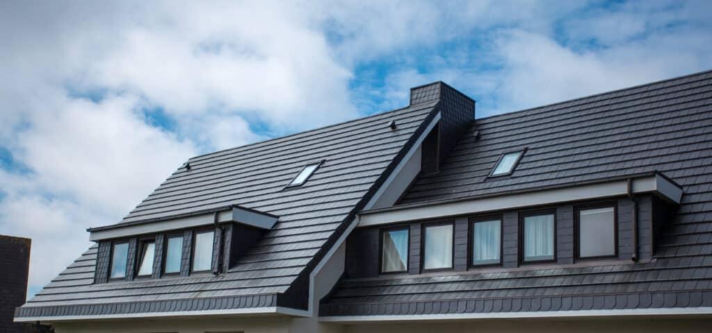 black slate tile roof