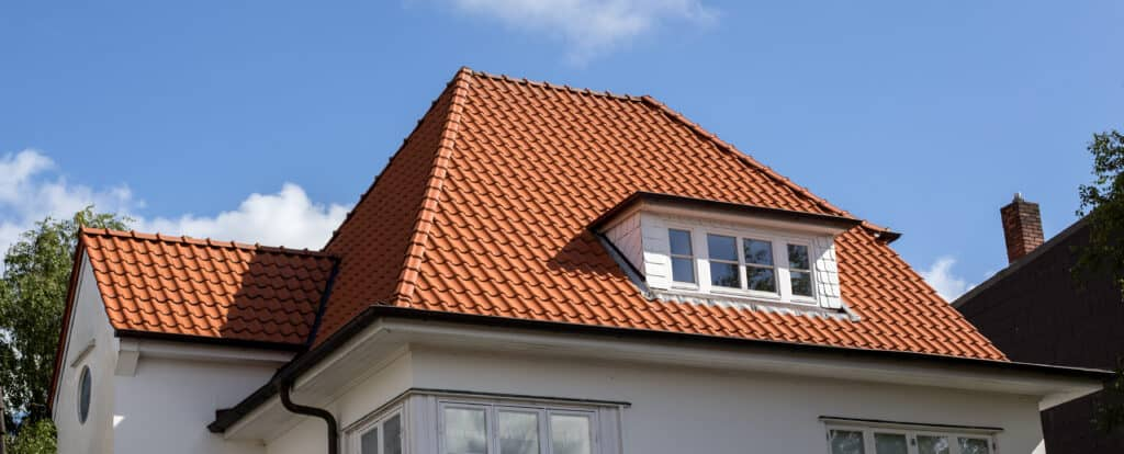 house with red tile roof