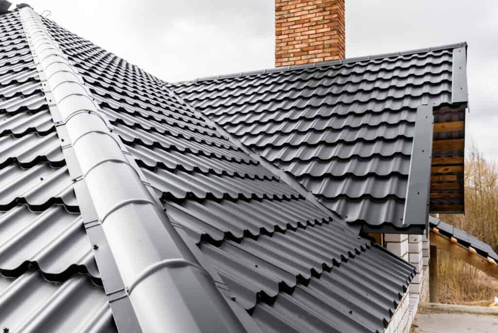 black metal tile roof