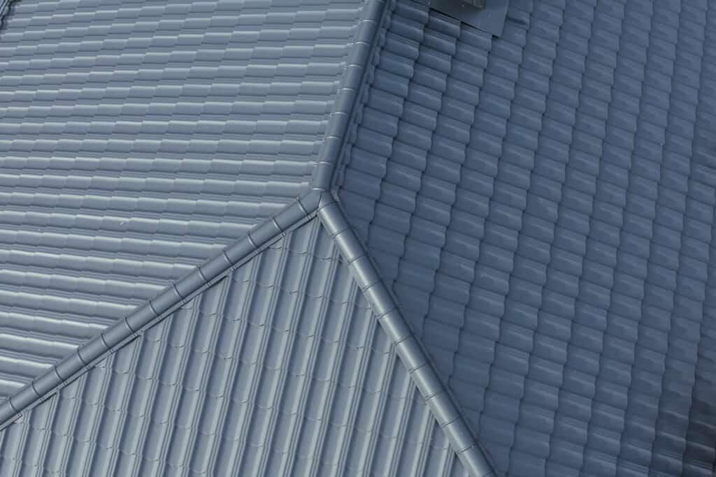 metal shingle roof