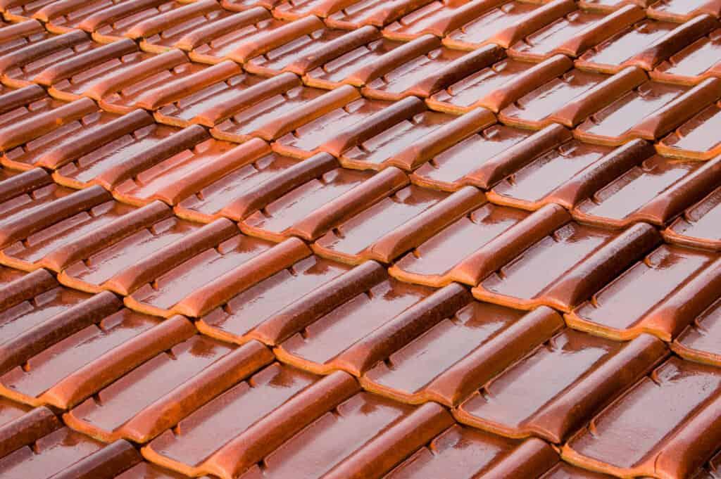 orange composite tile roof