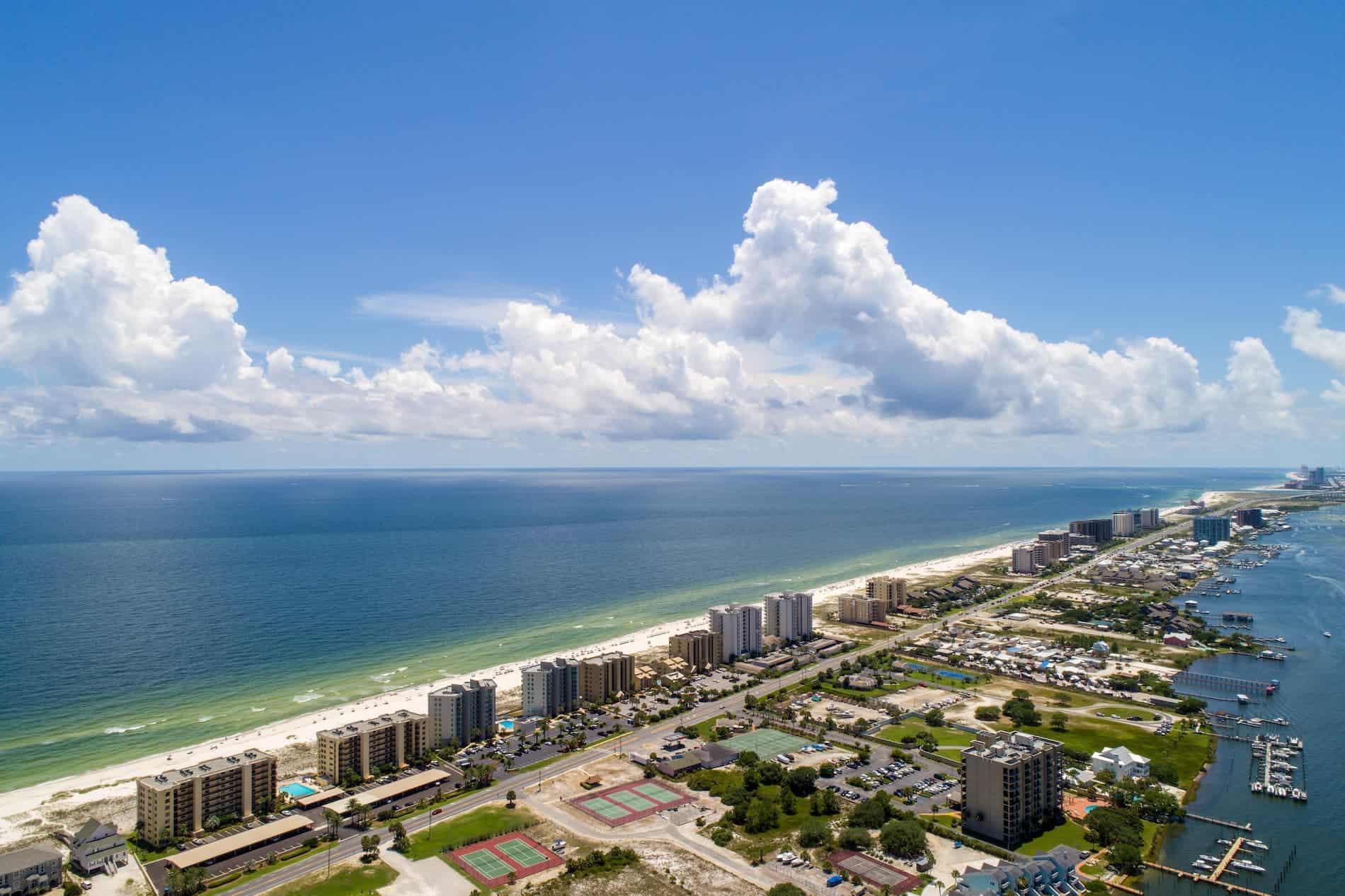 Pensacola Florida Aerial Shot for RoofClaim.com