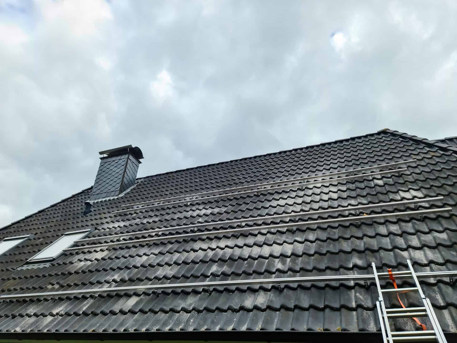 damaged roof in need of repair or replacement